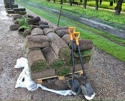 изготовление газона технология