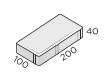 Брусчатка 200*100*40 размеры